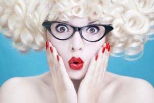 Make-Up-und-Brille