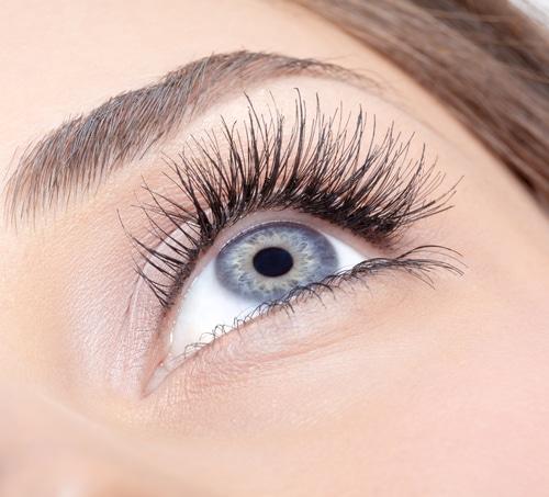 Schwungvoller Augenaufschlag dank Wimpernextensions